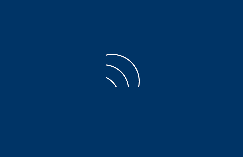 Announcement icon on blue background