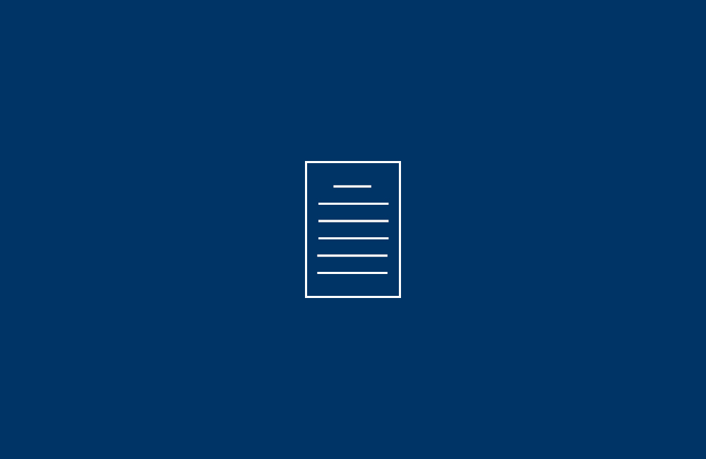 Document icon on blue background