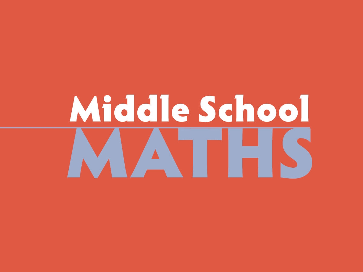 Graphic with words 'Middle School Maths'