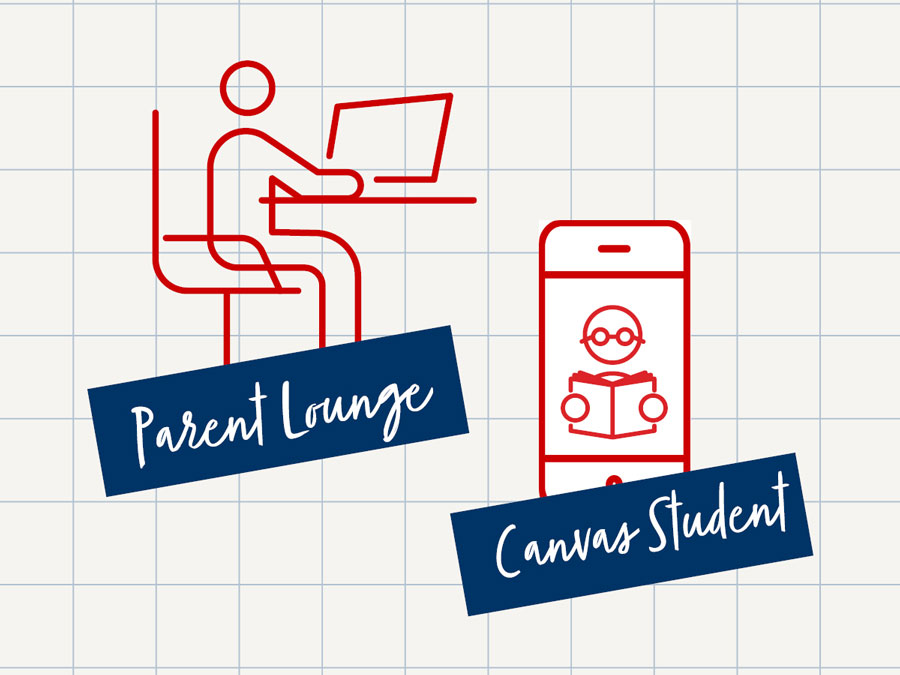 Graphic with Parent Lounge and Canvas Student