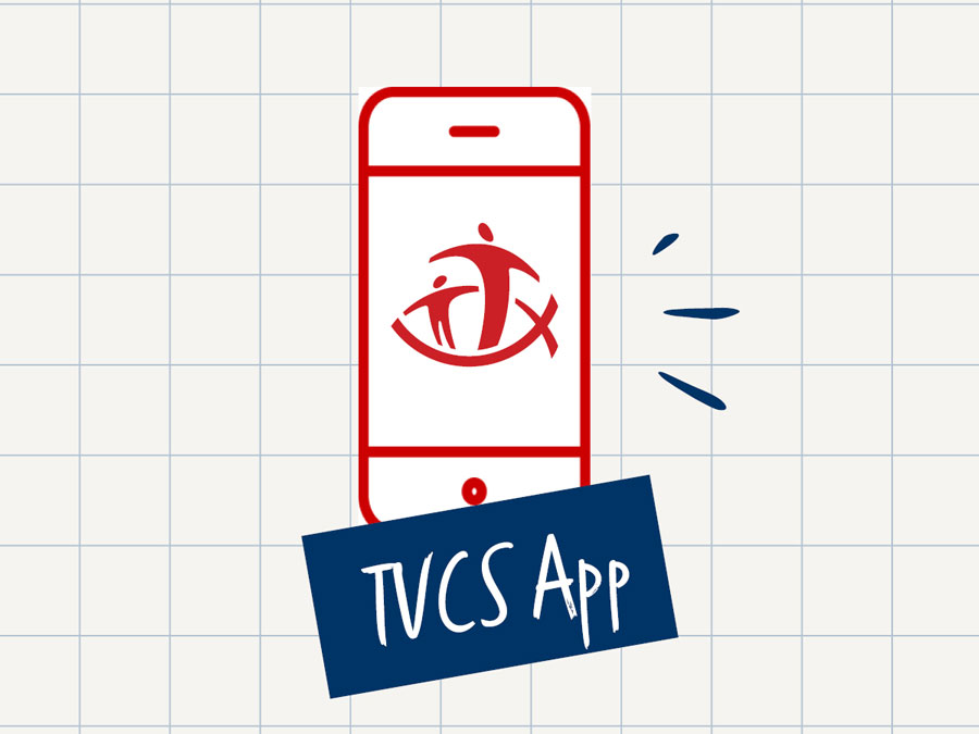 Graphic with TVCS app