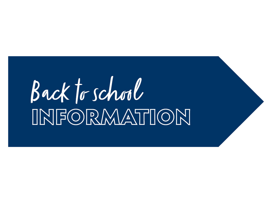 Back to school information graphic