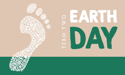 Graphic with words Earth Day