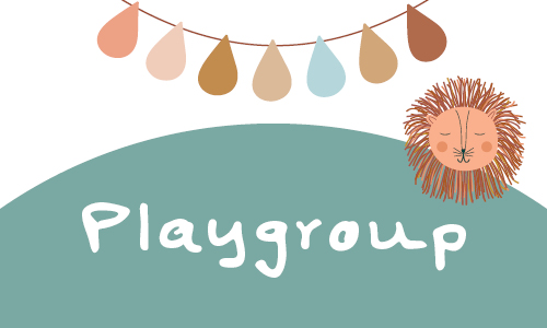 Graphic with Playgroup and lion